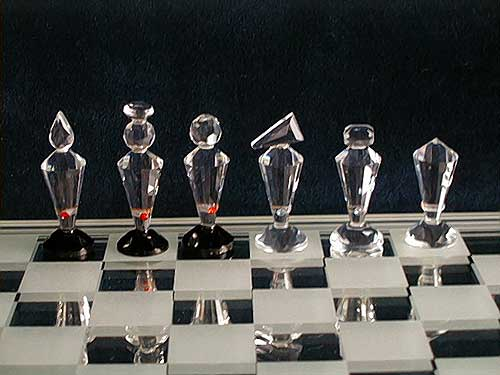 Crystal Chess Sets