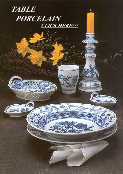 blue onion porcelain