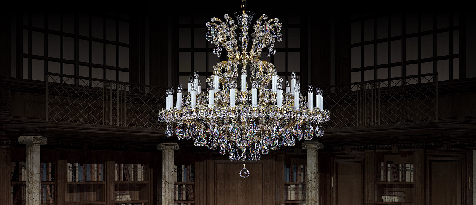 Crystal chandeliers aa czech glass art and high profesionality of czech glassmakers whose handicraft is handed over from generation to generation come into the world of czech glass and aloadofball Images